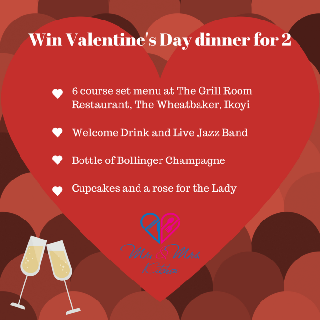 Win Valentine's Day dinner for 2